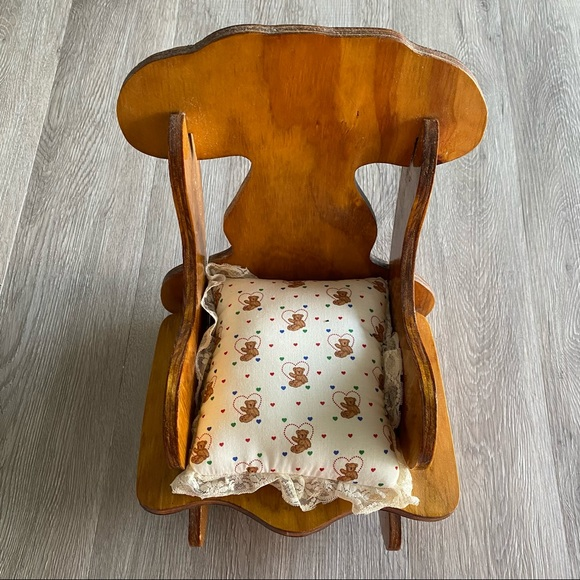 """VTG Small Wooden Rocking Chair 15"""""""
